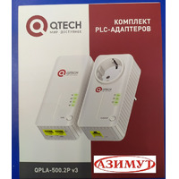 PLC адаптер интернет по 220 v с Wi-Fi QTECH Qpla 500.2p v 3